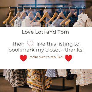 HELLO POSHERS! Bookmark my Closet